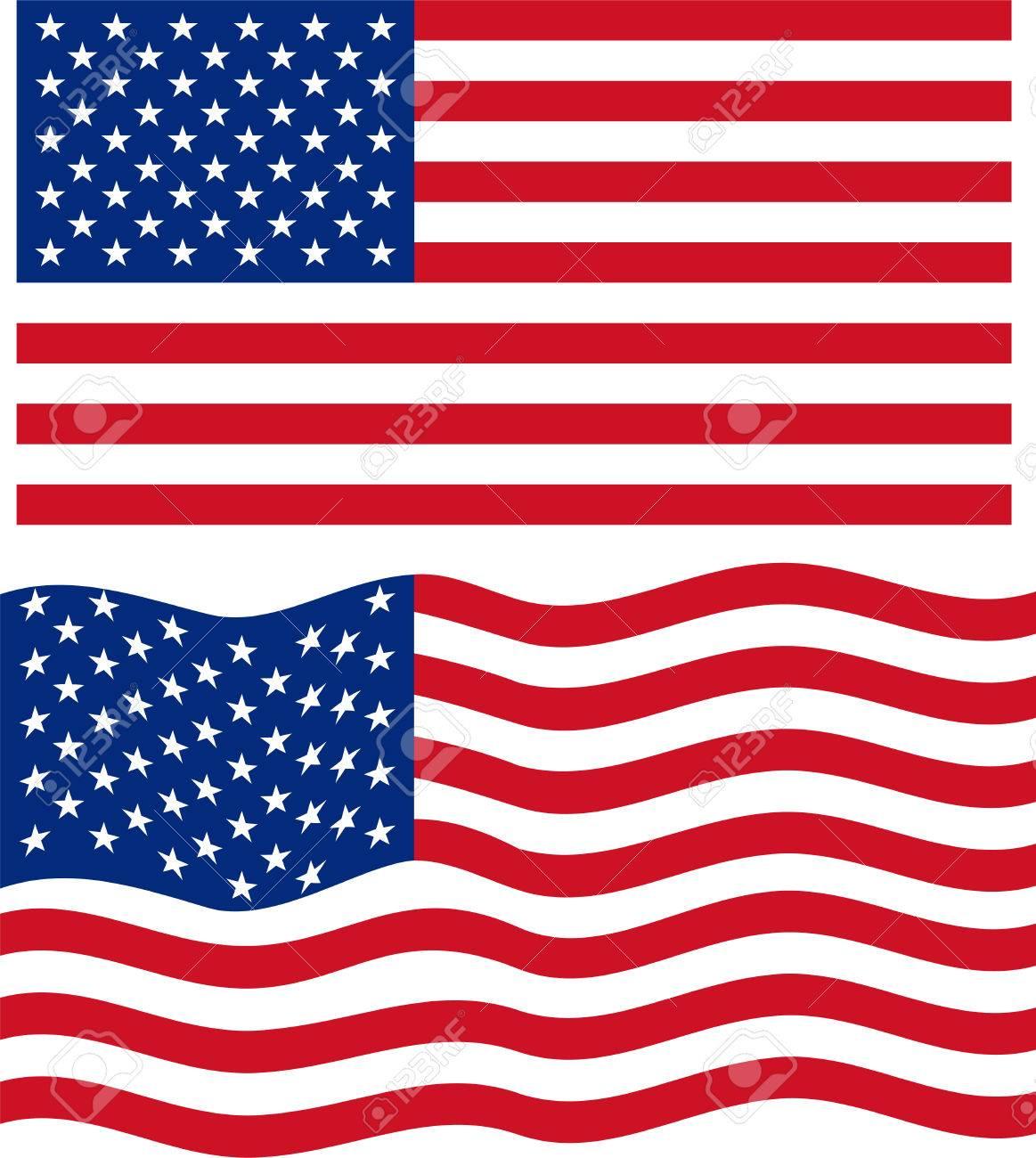 29e30e44852 Flat and waving American Flag. Vector Stock Vector - 31861258