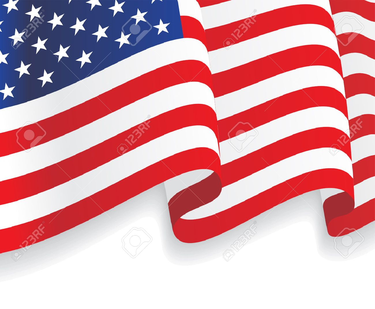 47a6c52685c Background With Waving American Flag. Vector Royalty Free Cliparts ...