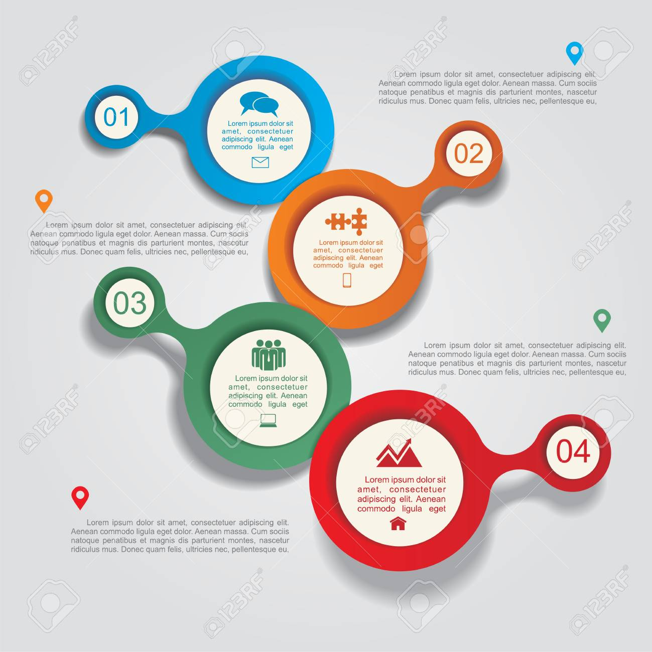 Infographic design template with elements and icons. Vector - 40822875