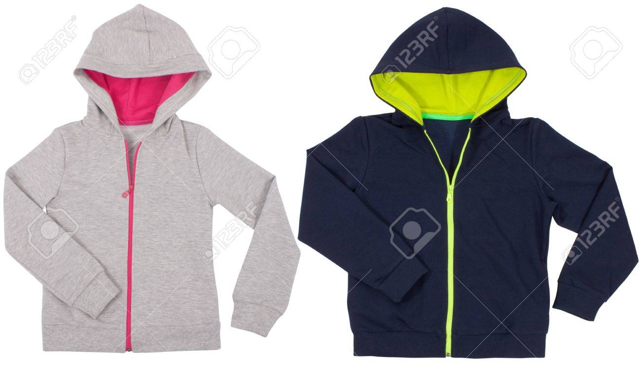 Two hoodie shirts isolated on white background - 40823880