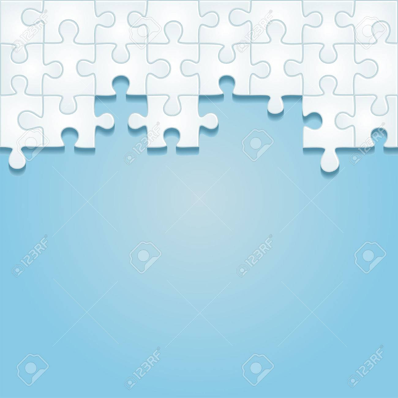 Puzzle frame background. Vector illustration - 41652259