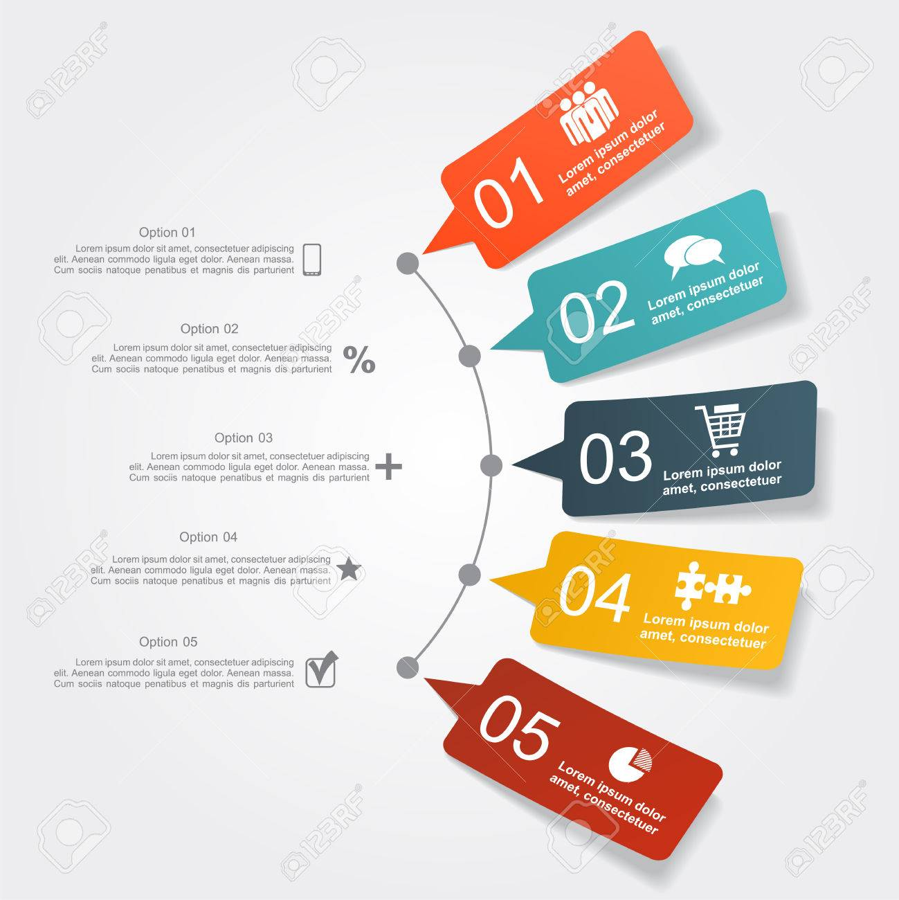 Infographic design template with place for your data. Vector illustration. - 47106976