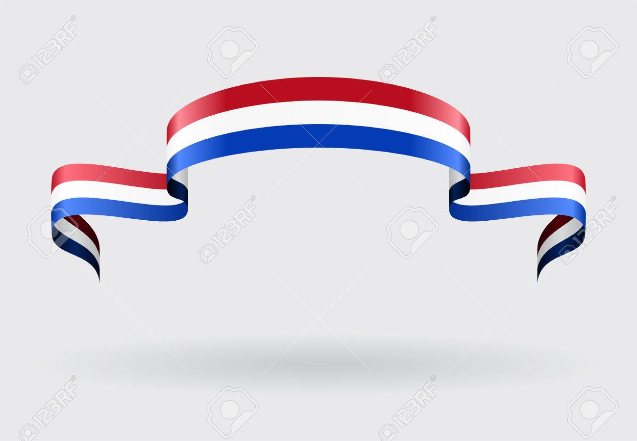 Dutch flag wavy abstract background. Vector illustration. - 58199269