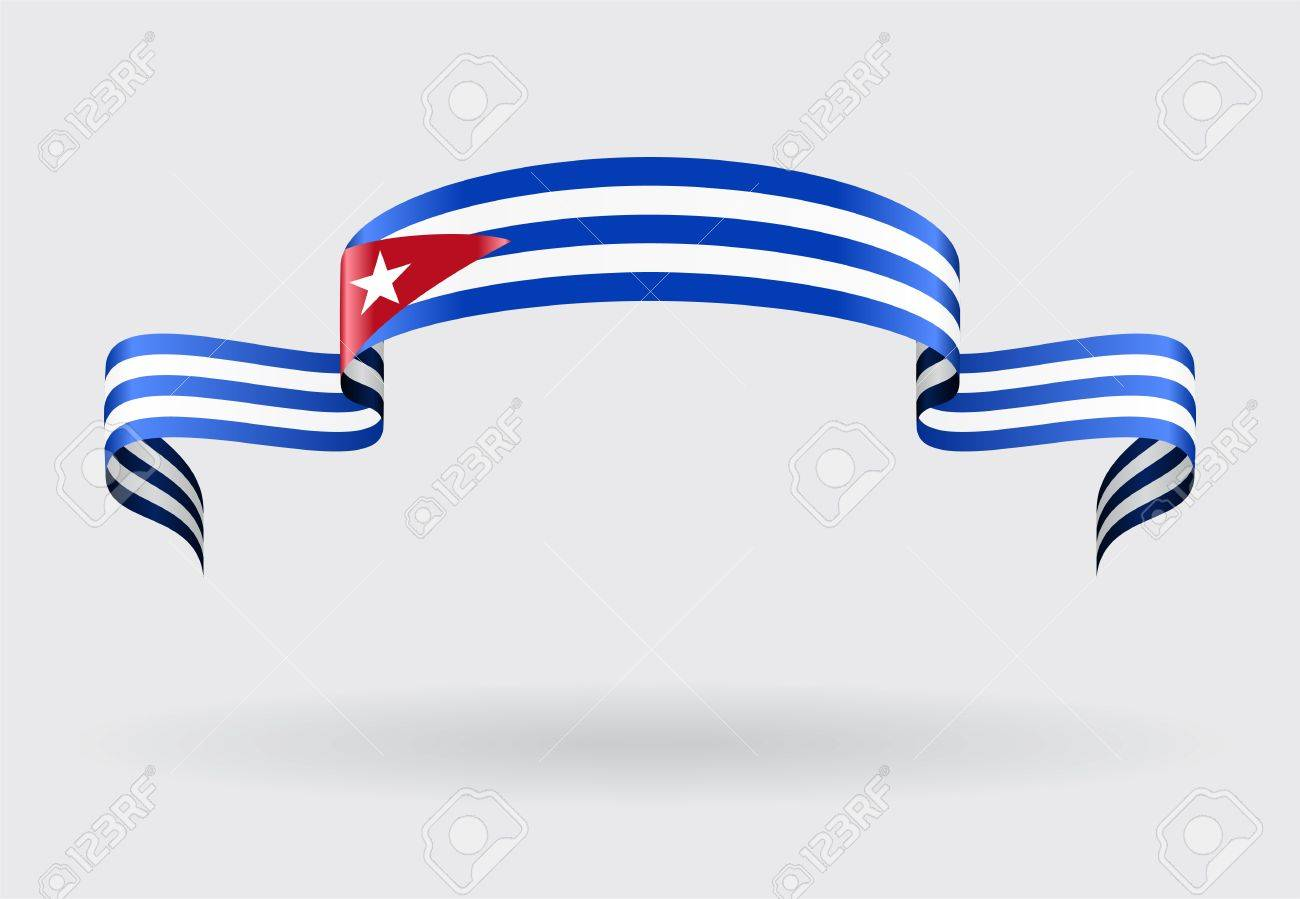 Cuban Flag Wavy Abstract Background. Vector Illustration. Stock Vector    58200811