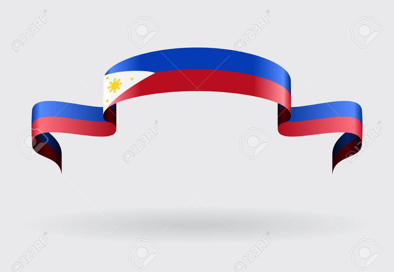 Philippines flag wavy abstract background. Vector illustration. - 58200838