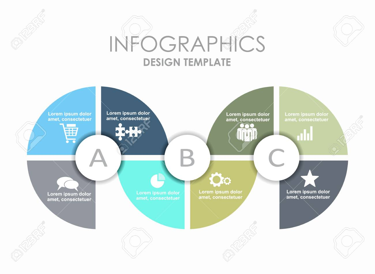 Infographic Template. Can Be Used For Workflow Layout, Diagram ...