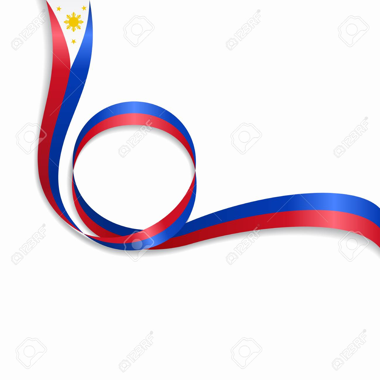 Philippines Flag In A Circular Wave Style Illustration On White Royalty Free Cliparts Vectors And Stock Illustration Image 93533448 Philippines flag waving abstract background loop animation motion. philippines flag in a circular wave style illustration on white