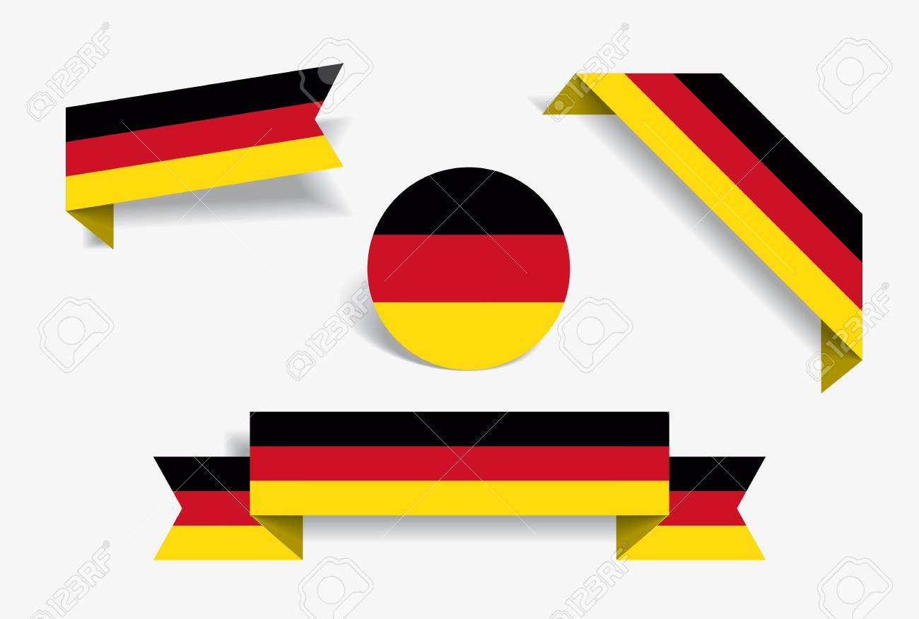 German flag stickers and labels vector illustration stock vector 112871649