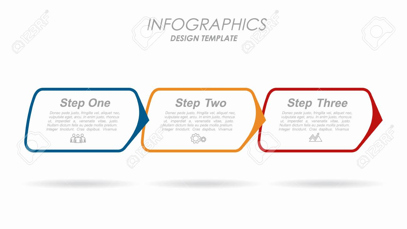 Infographic design template with place for your text. Vector illustration. - 125960176