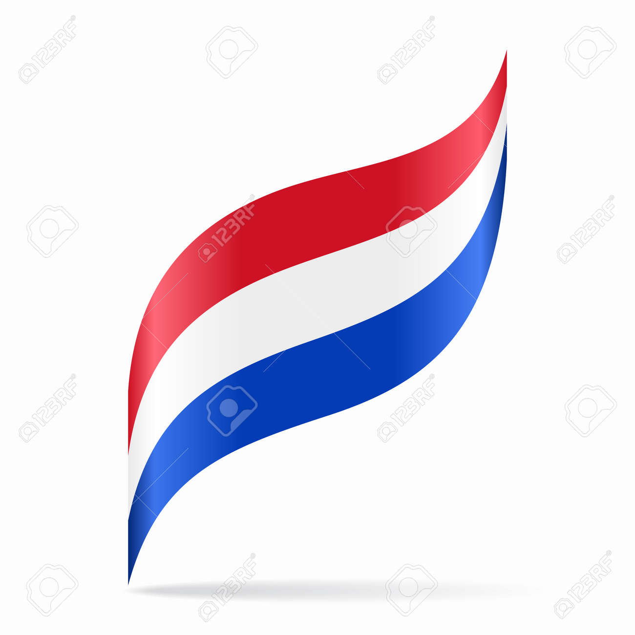 Dutch flag wavy abstract background. Vector illustration. - 159448534