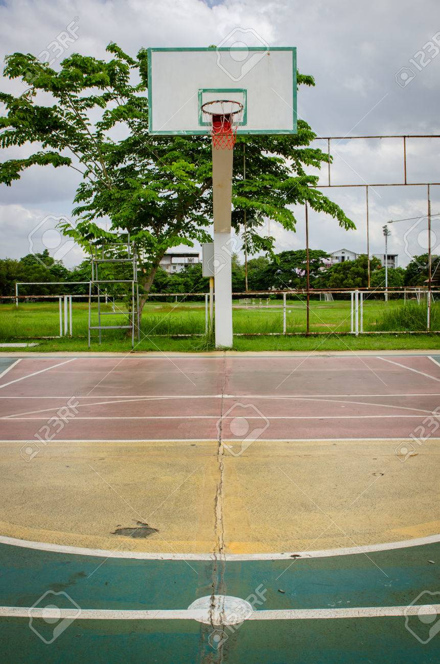 outdoor basketball court asphalt pad 12 backyard basketball