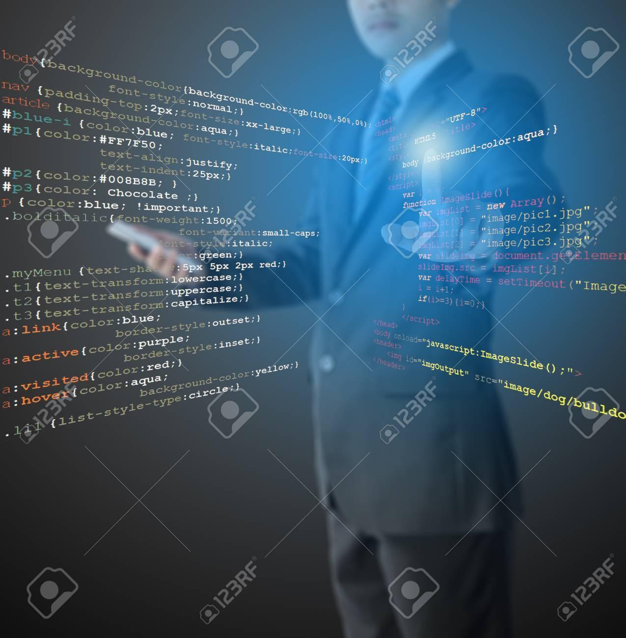 Desarrollo De Sitios Web - Programador Escribir HTML, CSS Y El ...