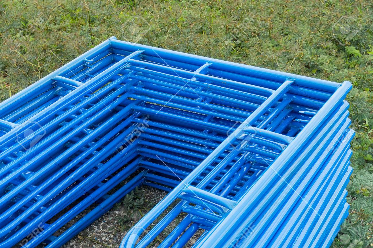 Scaffolding Storage In The Construction Site, Scaffolding Element. Stock  Photo   61720071