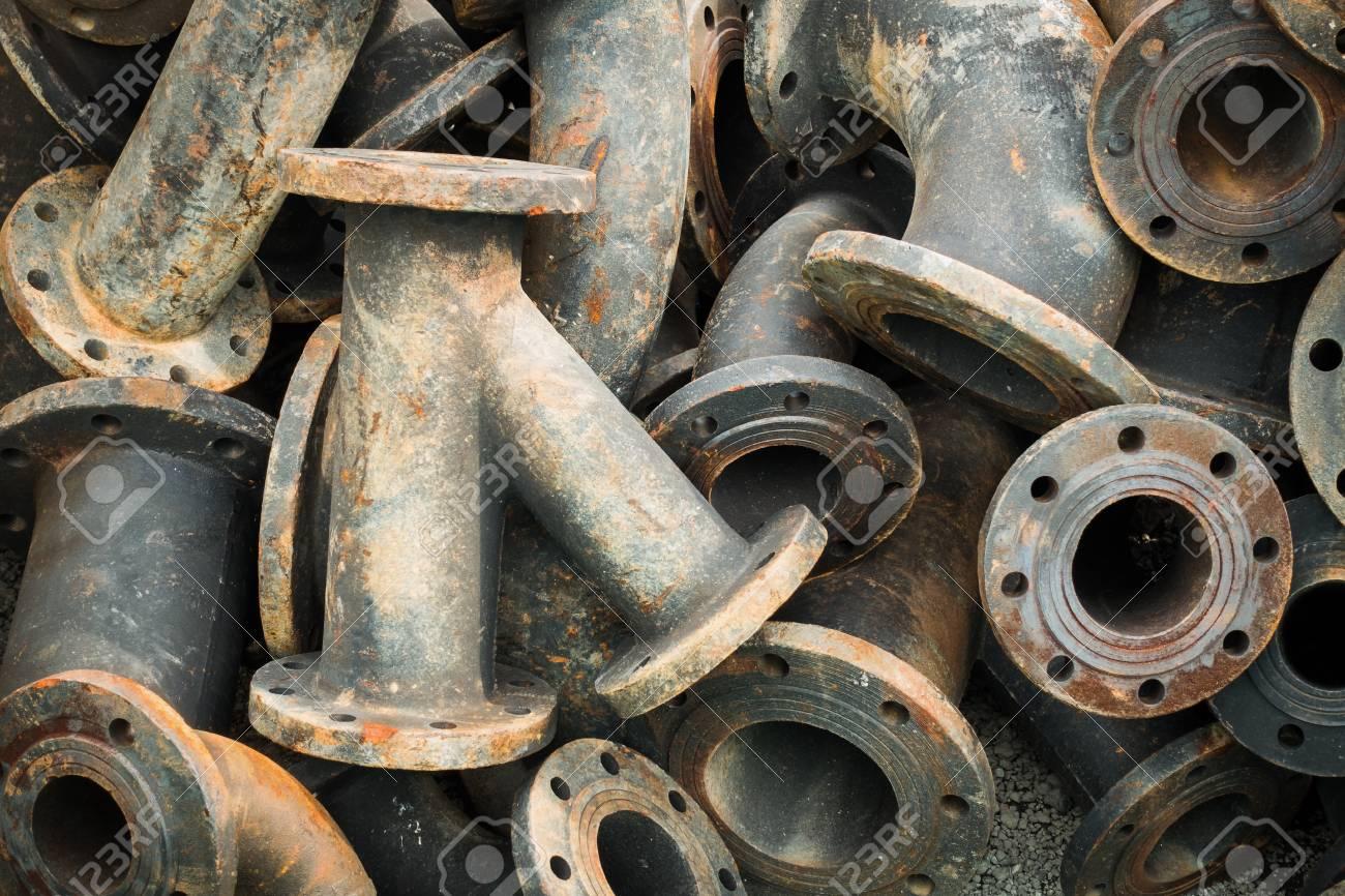 Stock Photo - Storage of sewage pipe fittings Cast iron pipe fittings. & Storage Of Sewage Pipe Fittings Cast Iron Pipe Fittings. Stock ...