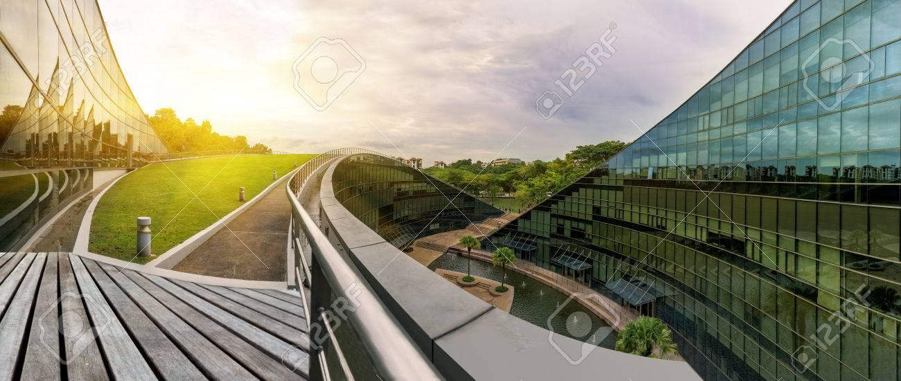 Modern architectural building of Nanyang Technological University, Singapore - 68969746