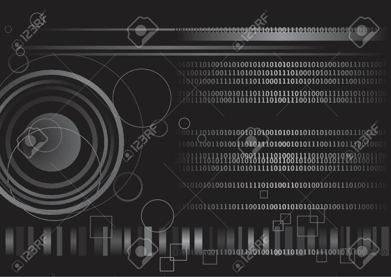 Computer generated digital binary code technology Stock Vector - 1242701