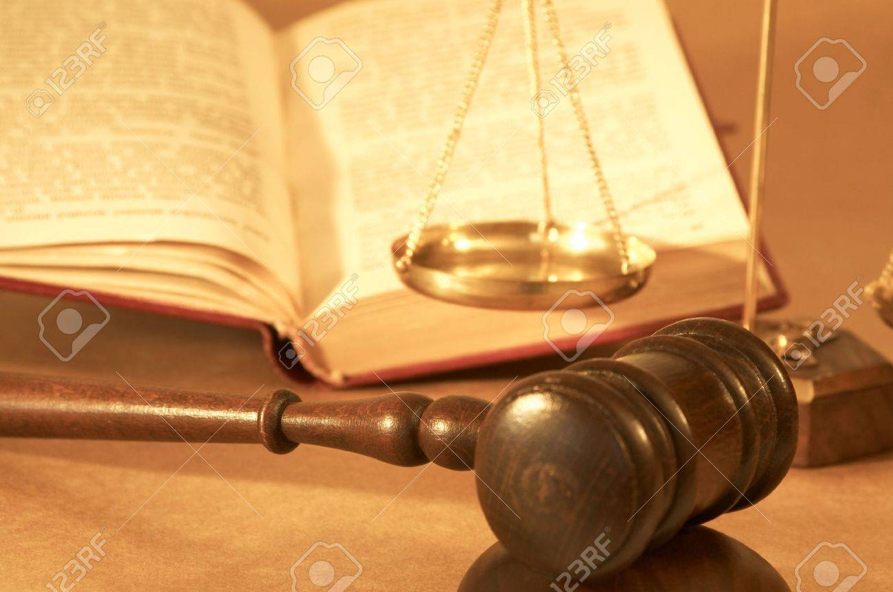 gavel and open book, shallow dof Stock Photo - 682376