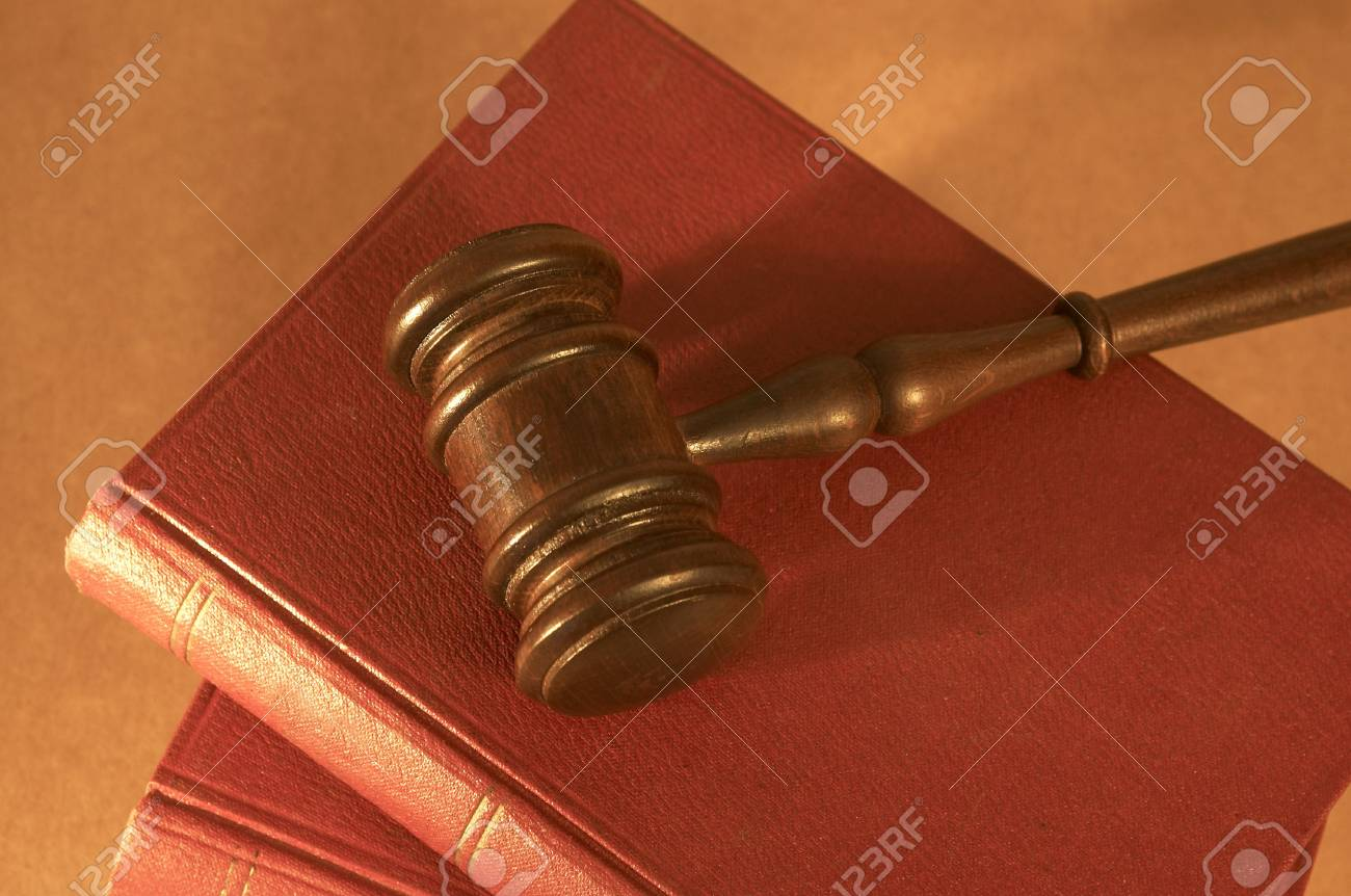 gavel close up on old books, shallow dof Stock Photo - 772930