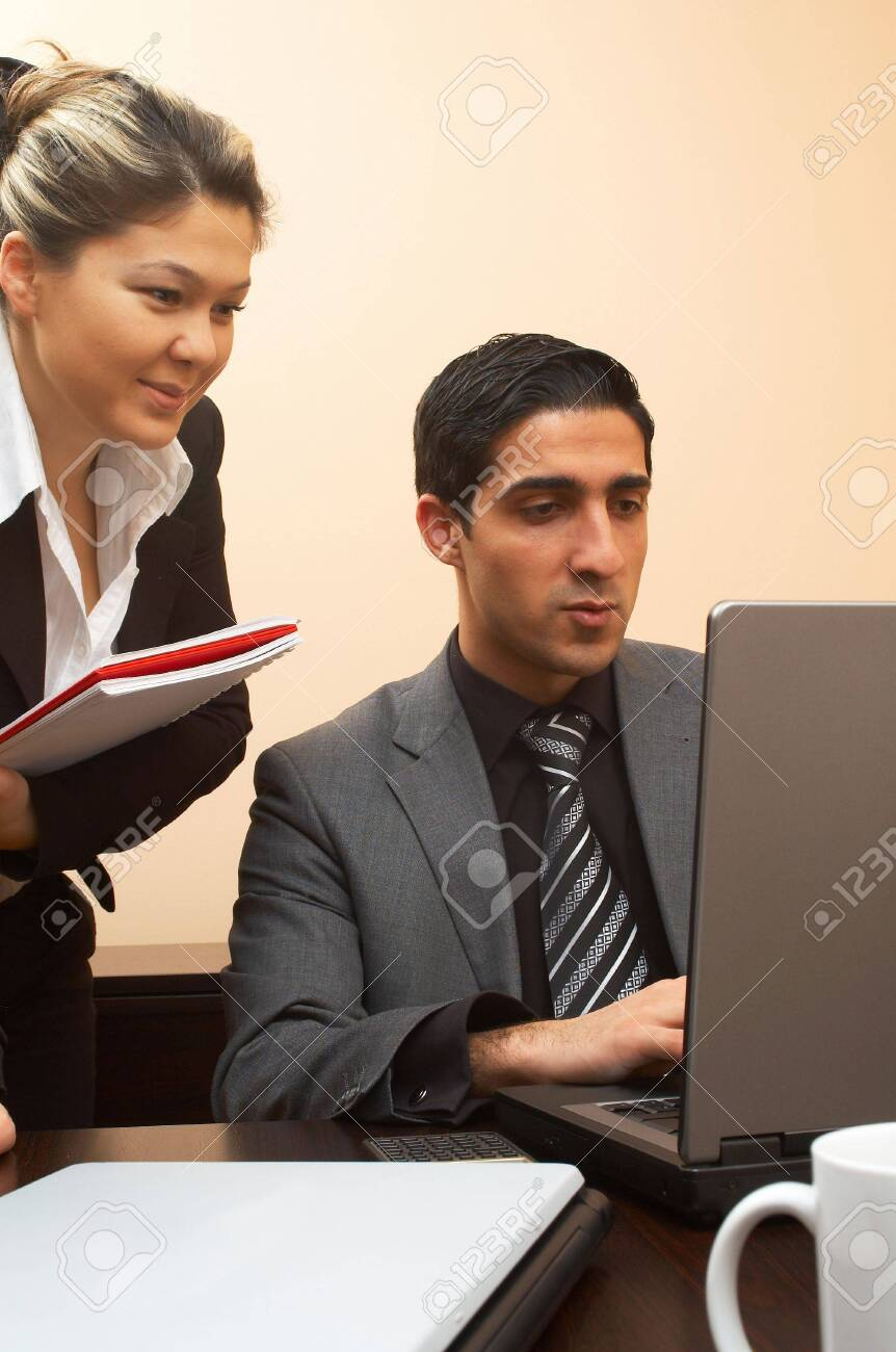 young business people working on laptop Stock Photo - 892874