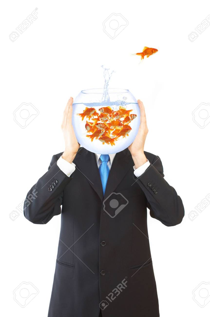 concept image for businessman with lots of ideas, making decisions Stock Photo - 955756