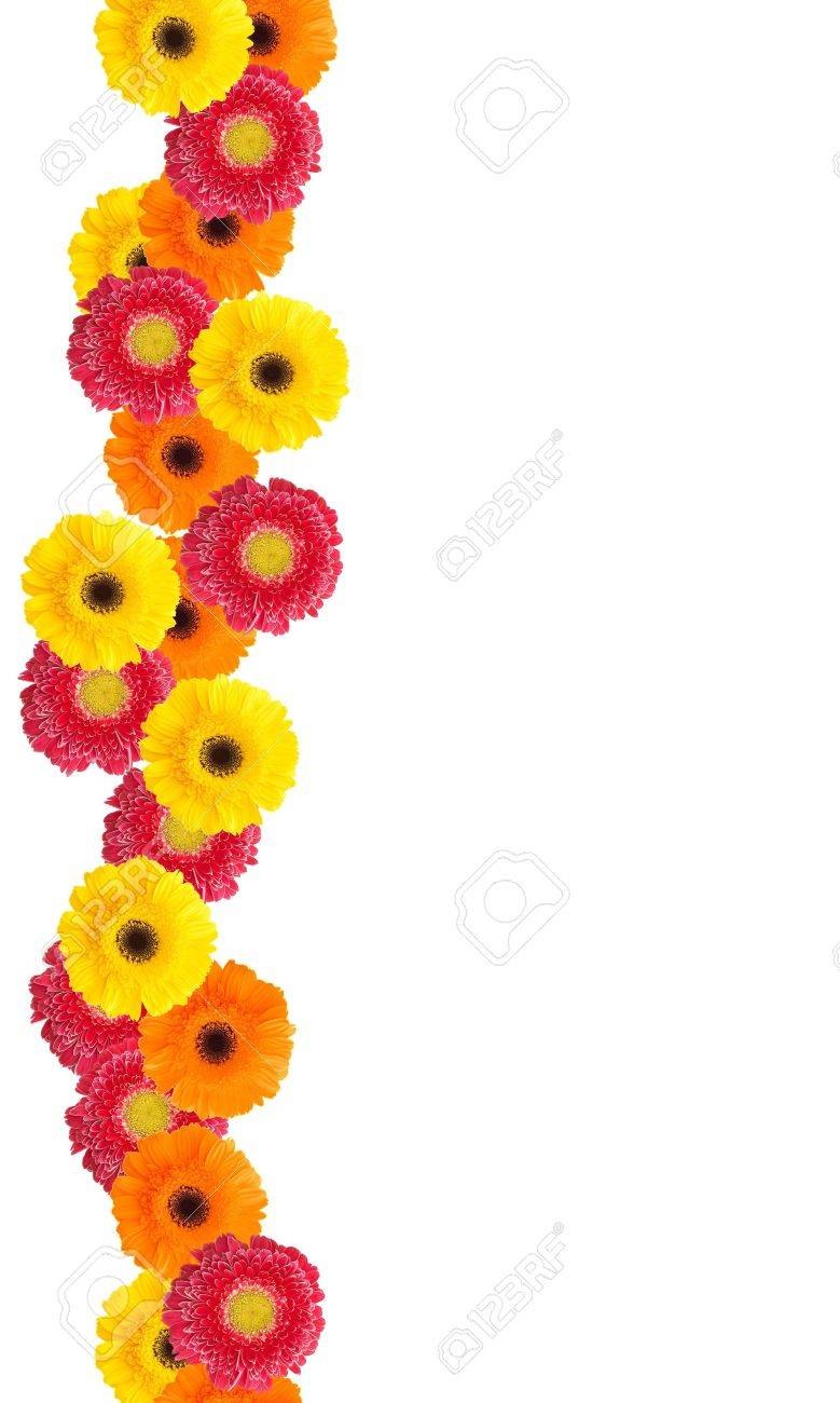 Colorful daisy flowers border for your designs and messages stock colorful daisy flowers border for your designs and messages stock photo 1091117 izmirmasajfo