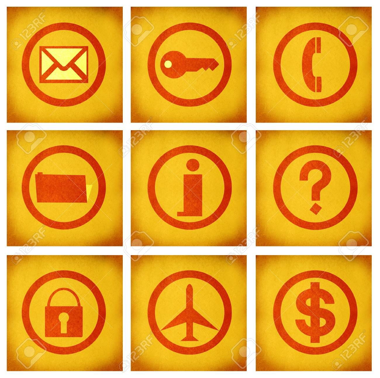 business icon set series on texture background Stock Photo - 2514756
