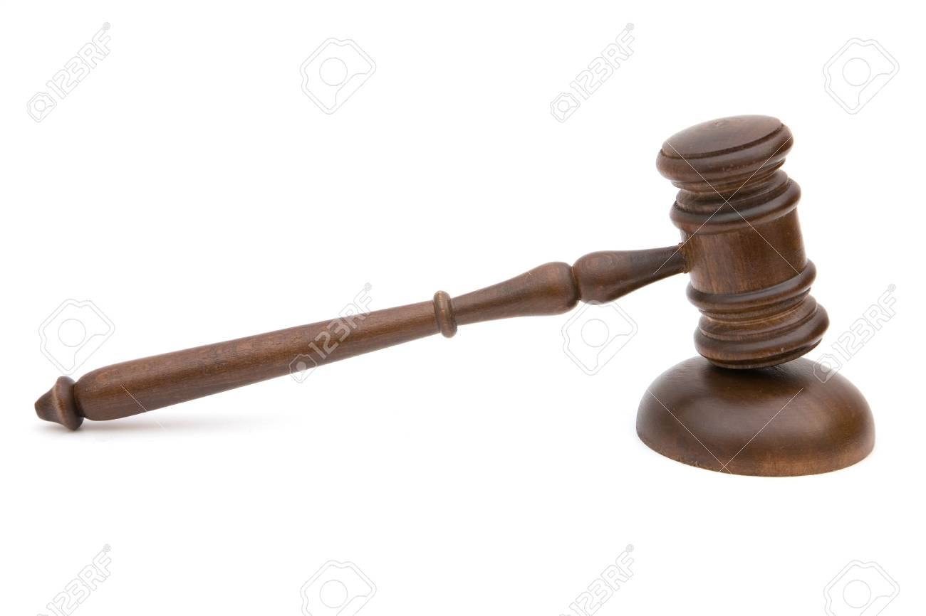 gavel close up on white background for legal concept Stock Photo - 3097441