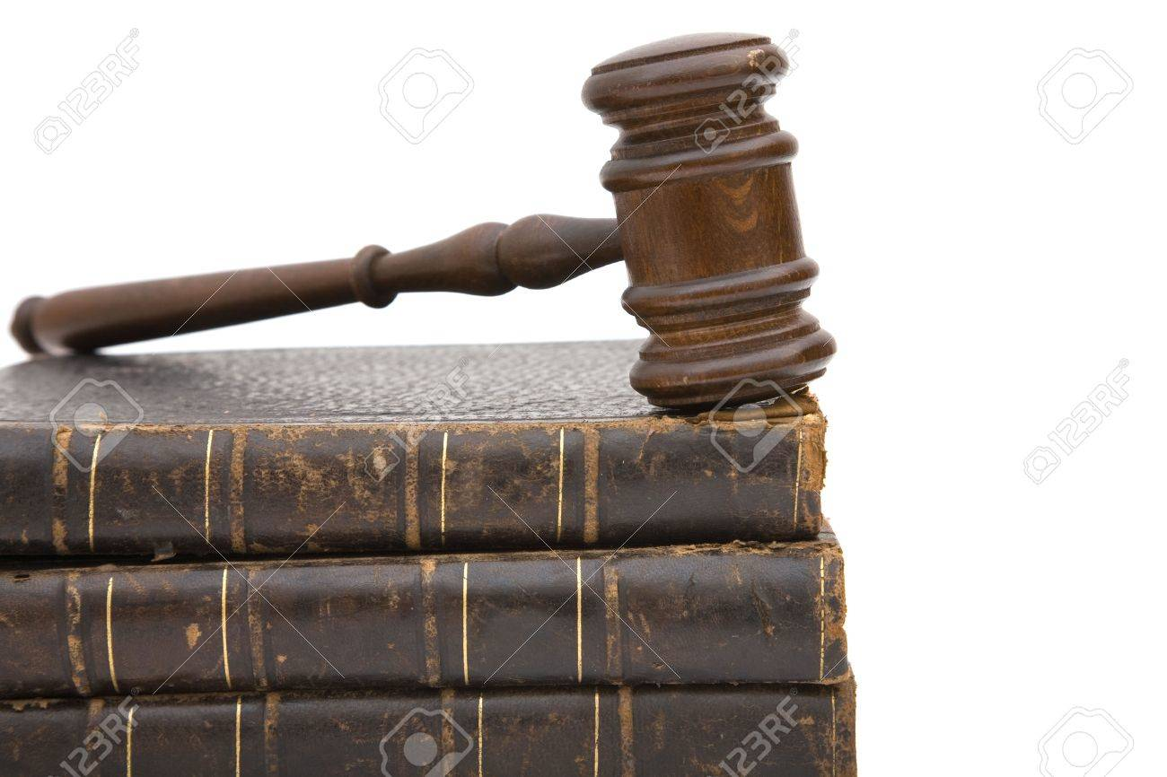 legal concept with old gavel and law books - 3772716