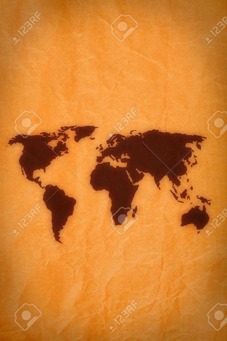 Old paper texture background with world map vector design map old paper texture background with world map vector design map used to trace http gumiabroncs Images