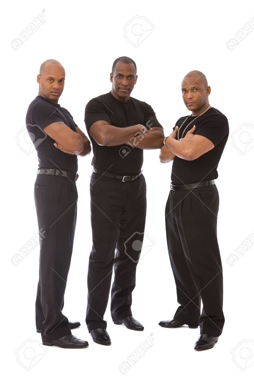 men in black on white background Stock Photo - 5205422