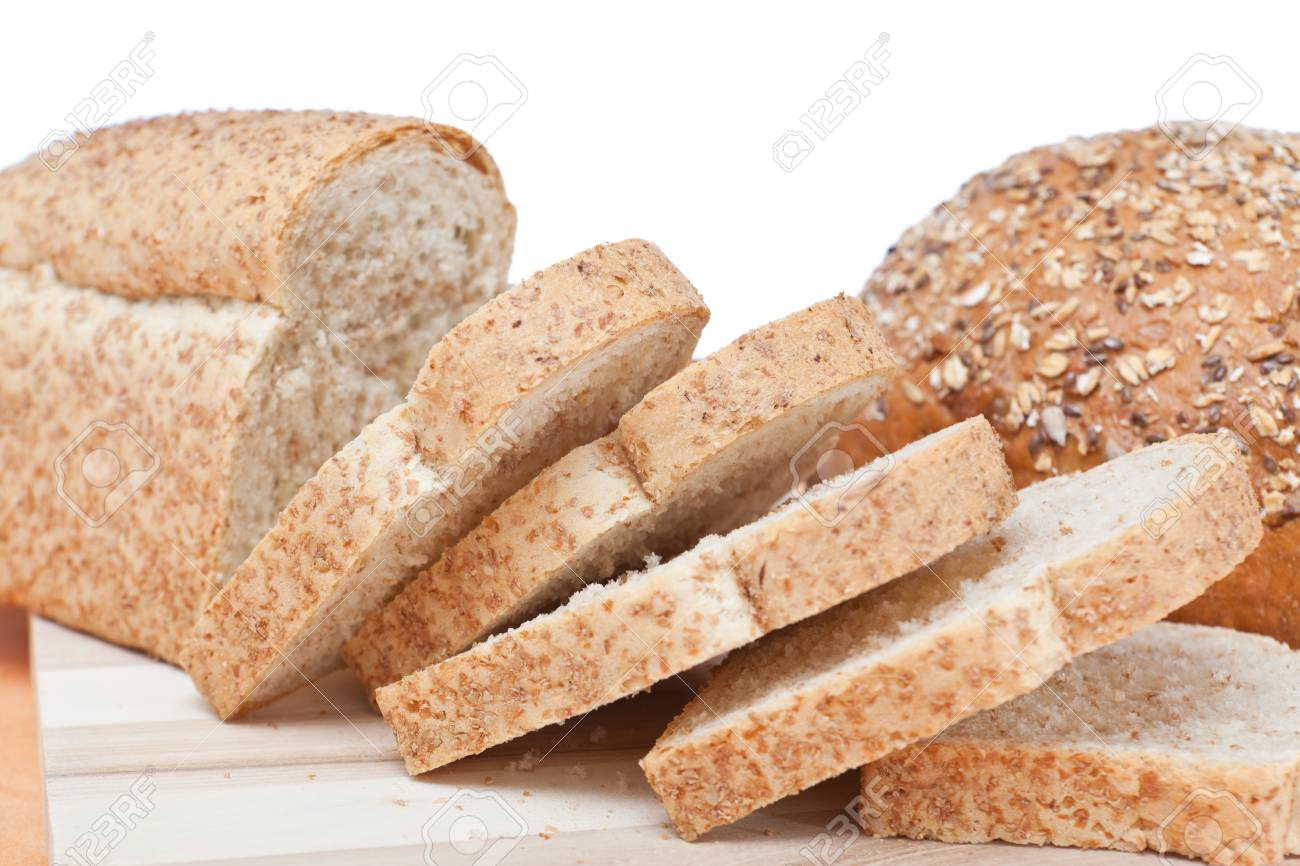 Slices of whole wheat loaf Stock Photo - 8391203