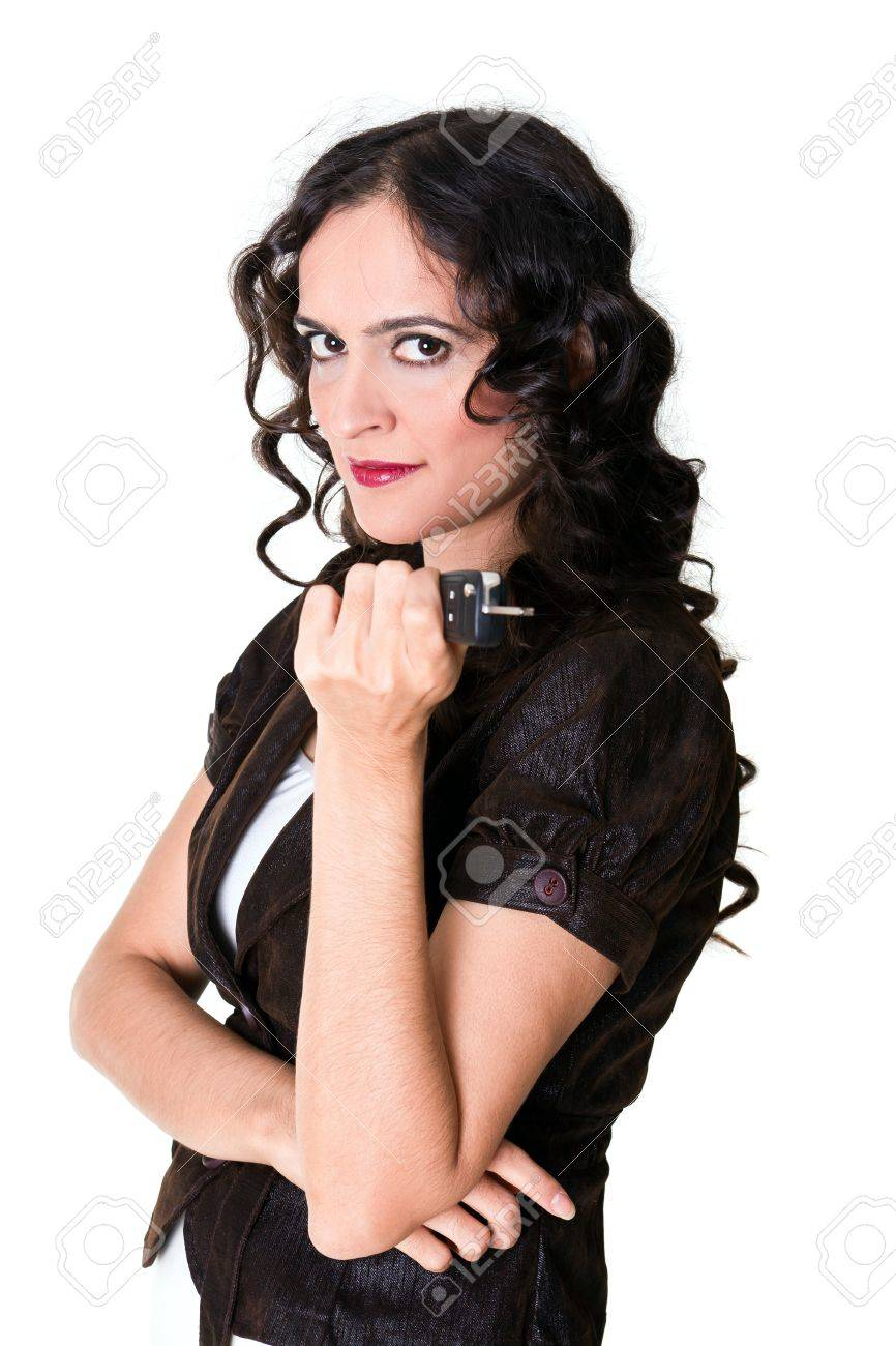woman with car key Stock Photo - 8744345