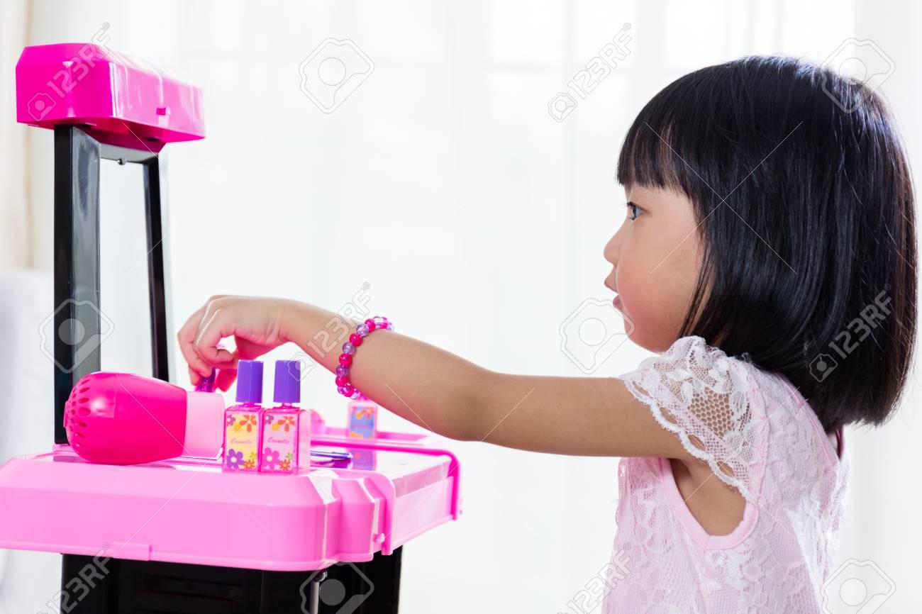 アジア中国 Liitle 女の子メイクアップおもちゃ自宅で遊んで