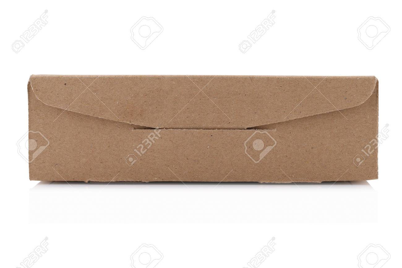 Cardboard Box isolated on a White background with clipping path Standard-Bild - 46785033