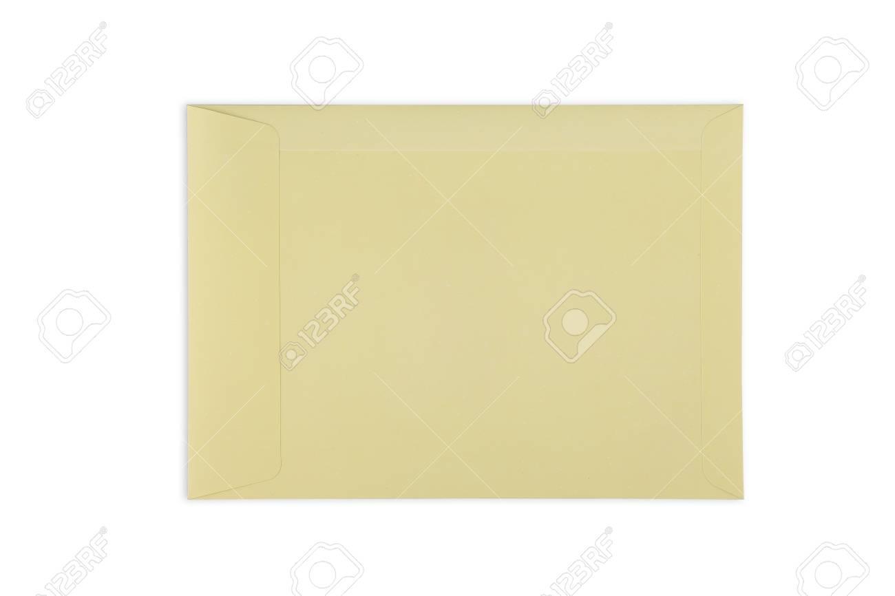 Envelope with window, isolated on white background Standard-Bild - 46785039