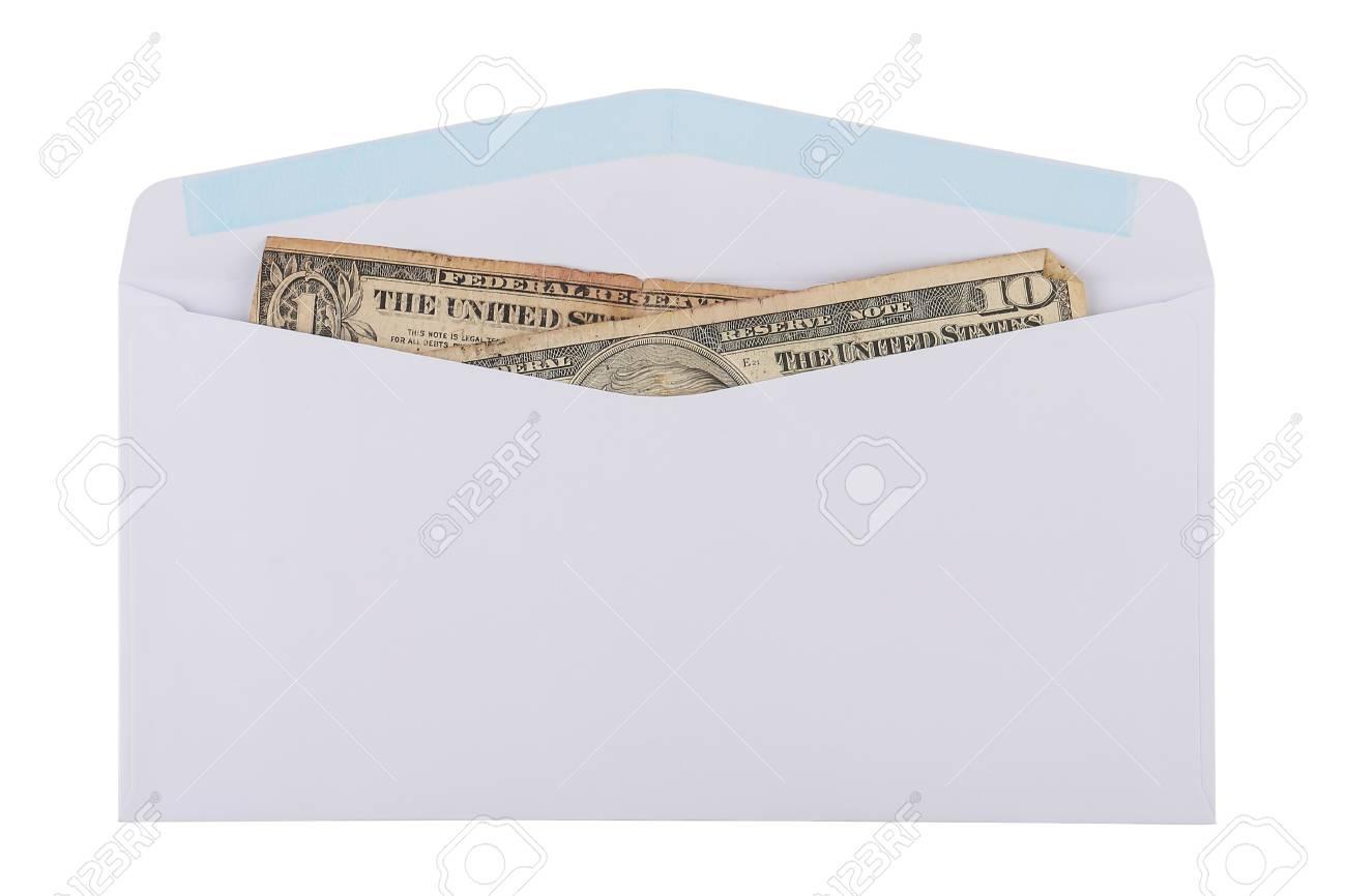 old cash in an envelope Standard-Bild - 46785043