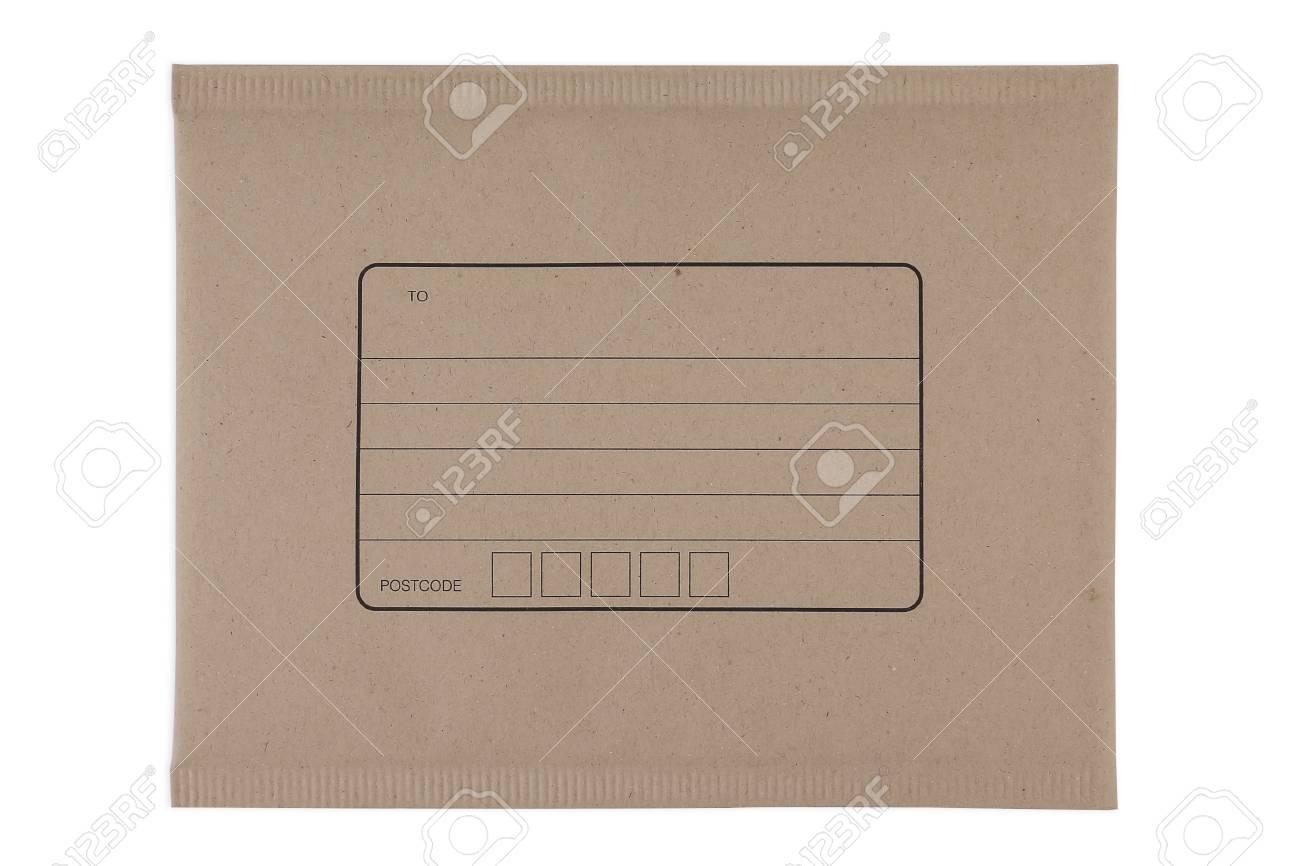 Brown Envelope document on white background Standard-Bild - 46785051