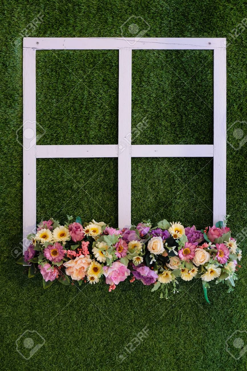 Crisp white face On artificial turf Standard-Bild - 46785260
