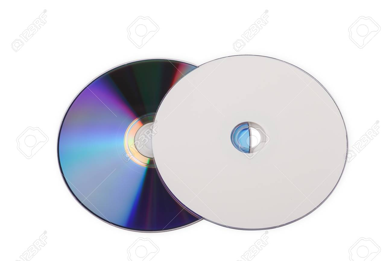 compact discs on a white background Standard-Bild - 46785261