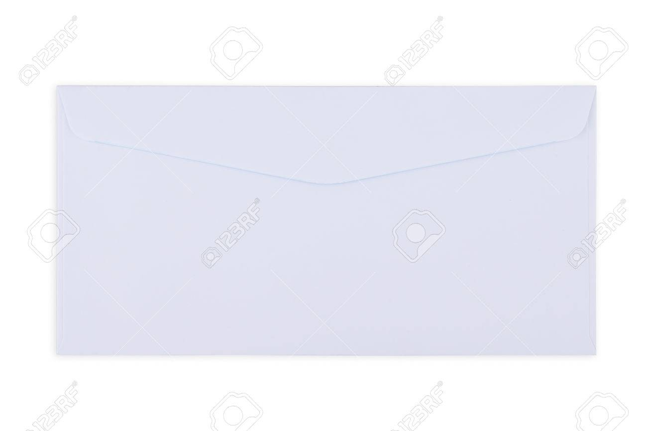 white  Envelope document on white background Standard-Bild - 46785258