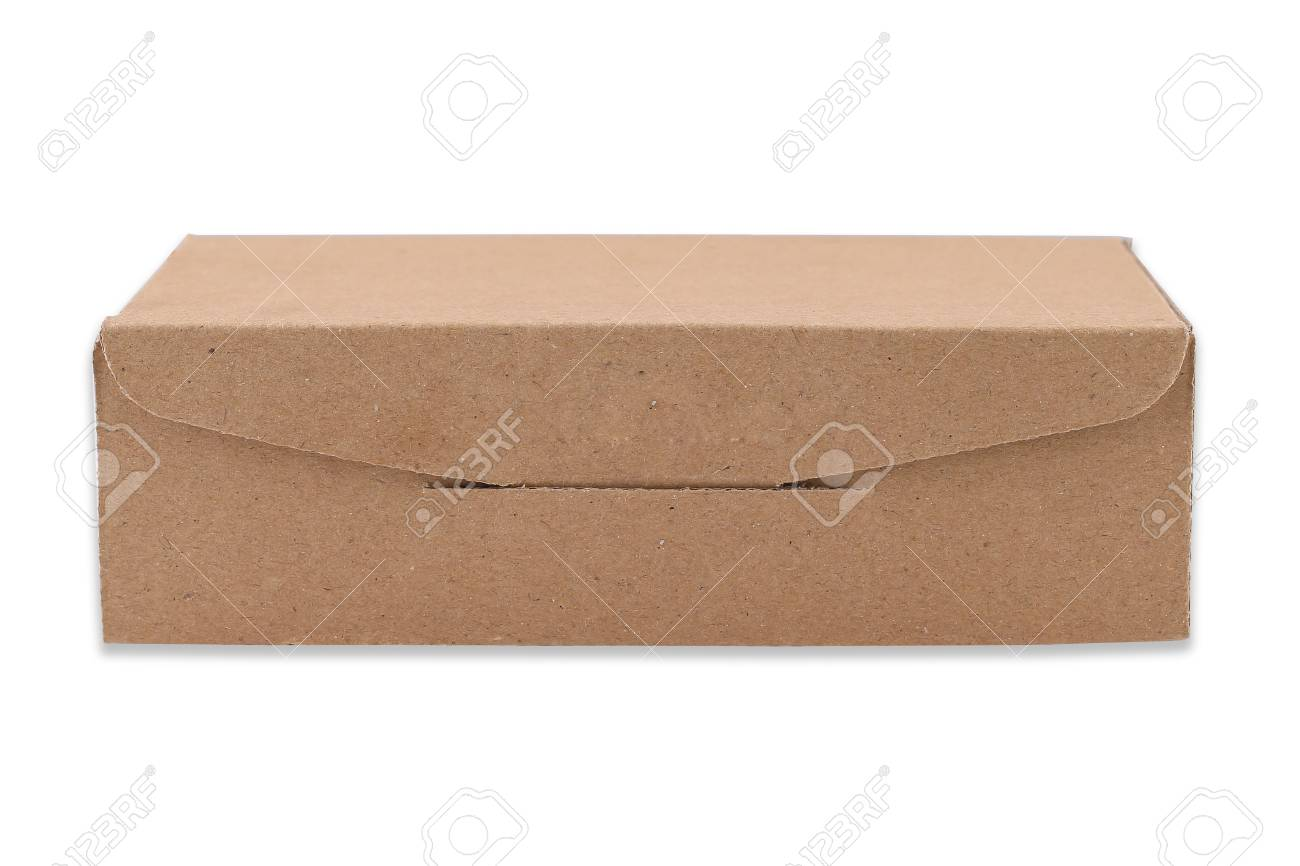 Cardboard Box isolated on a White background with clipping path Standard-Bild - 46785268