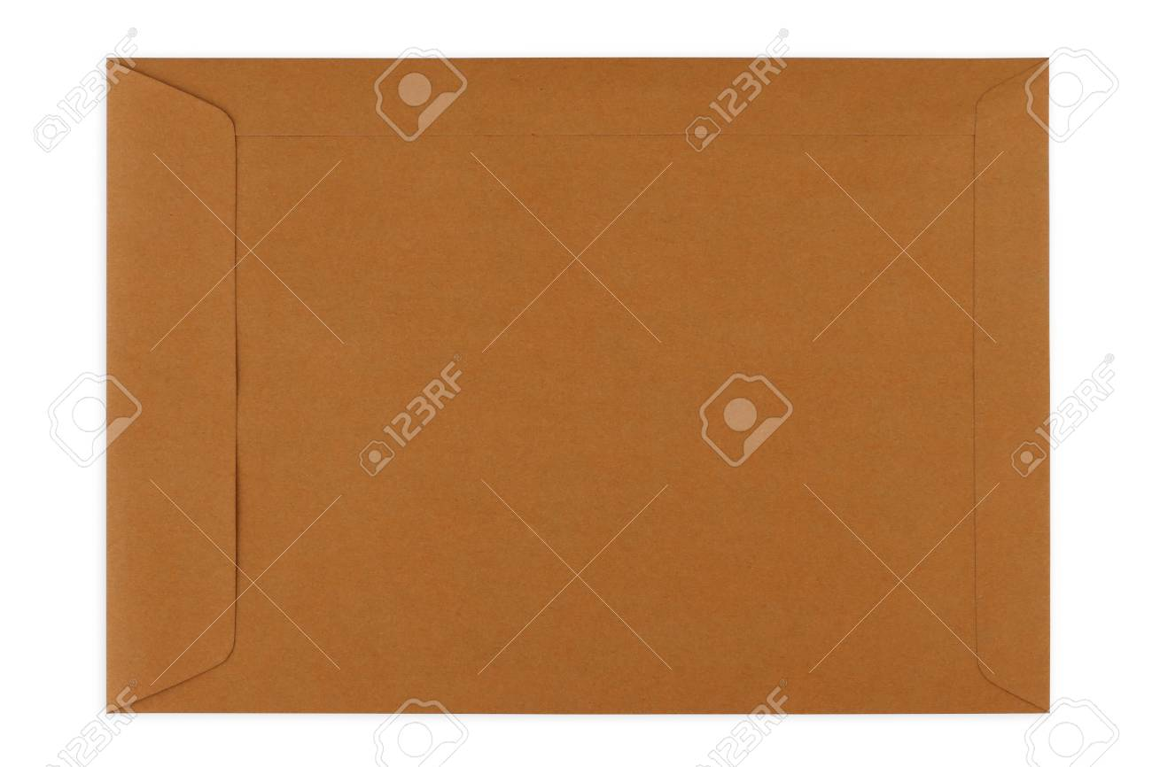 Brown Envelope document on white background Standard-Bild - 46785276