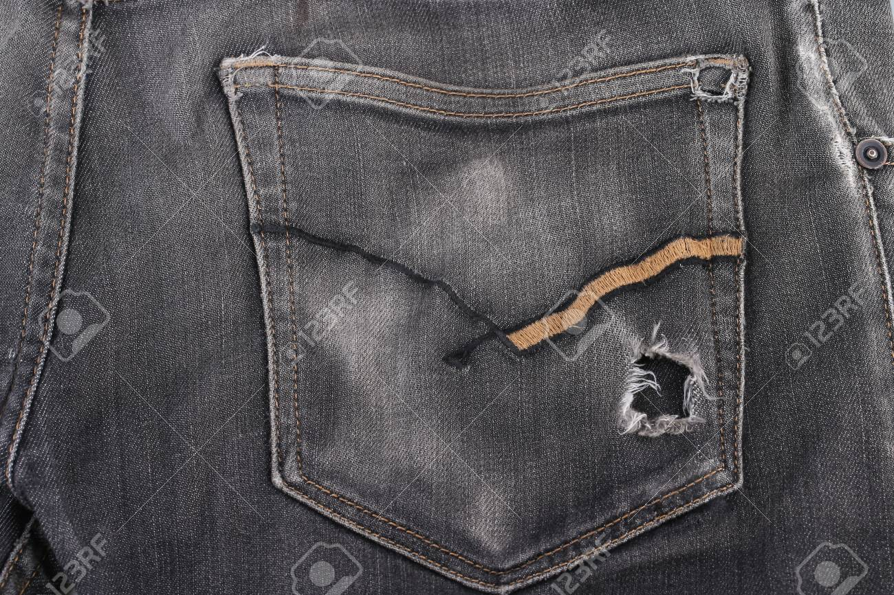 A bulky wallet on a jeans pocket, a concept of wealth Standard-Bild - 46785271
