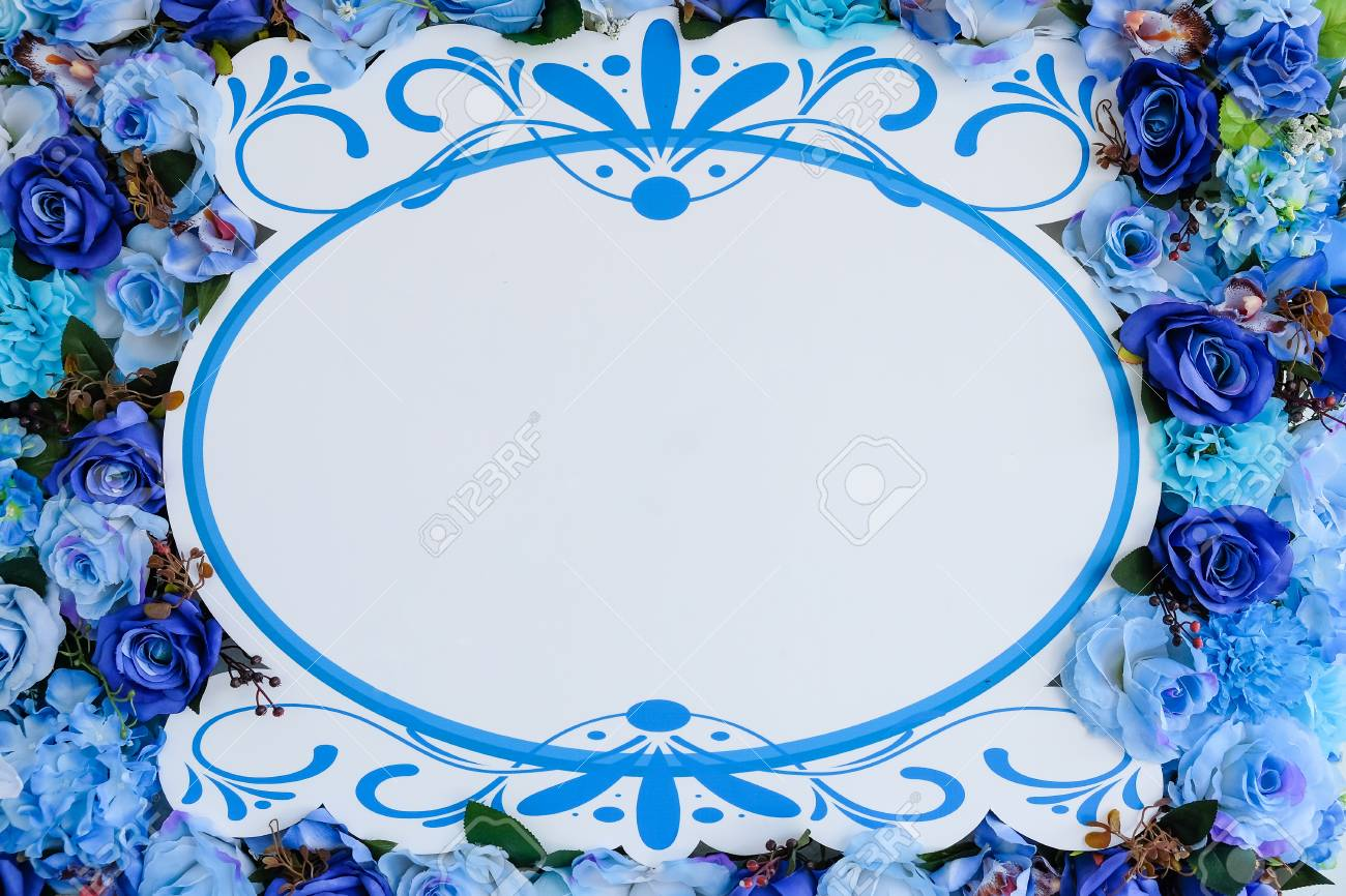 frame white around flower Standard-Bild - 46785277