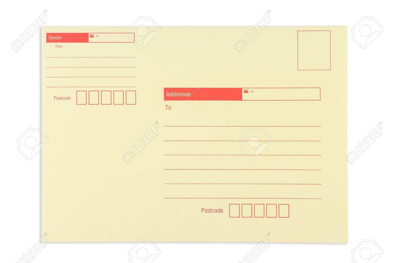 Envelope with window, isolated on white background Standard-Bild - 46785373