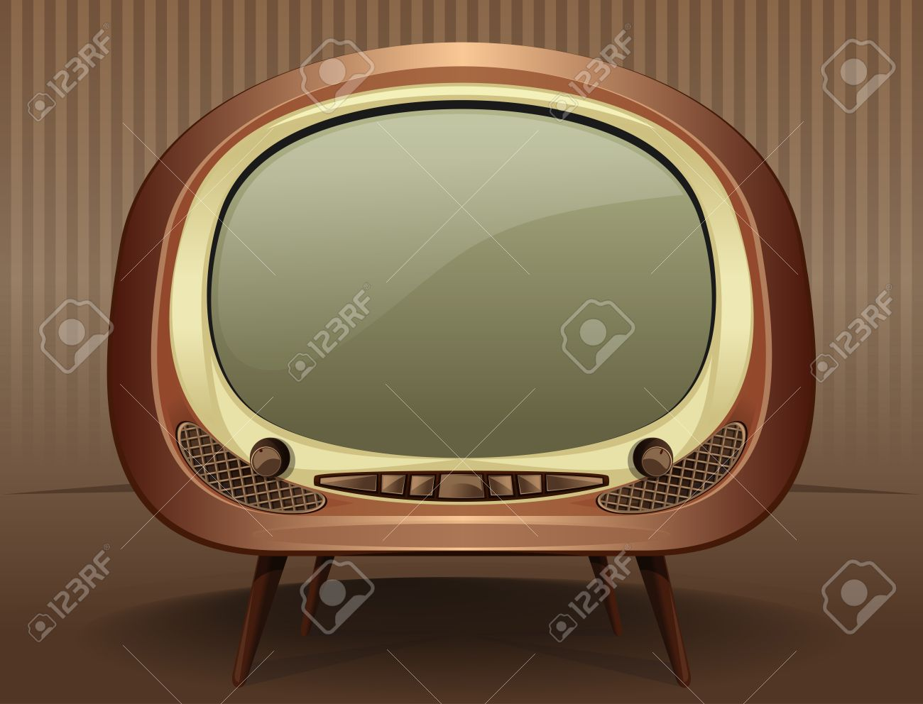 vintage tv vintage television in the style of the 50s 60s