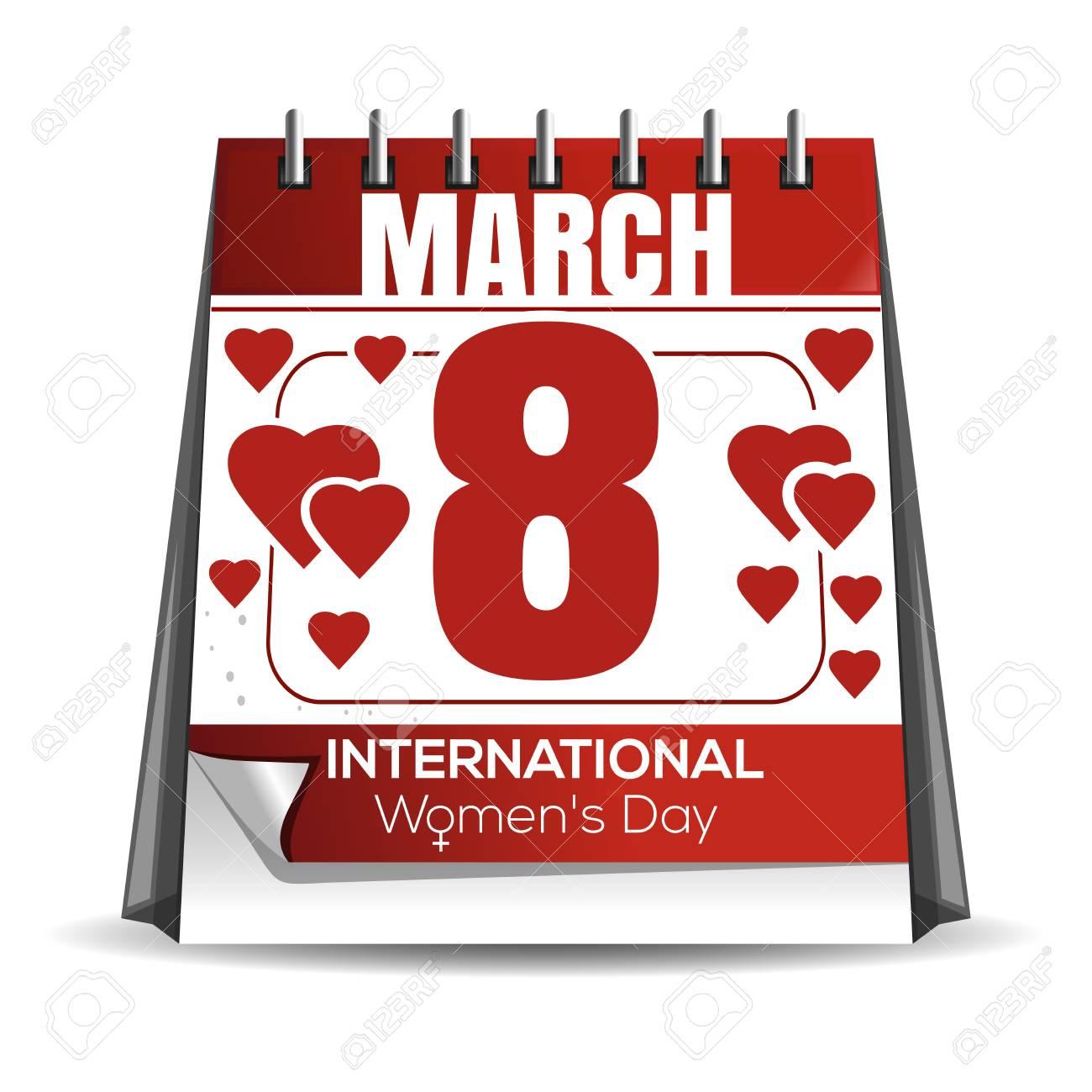 Women day calendar  8 March calendar  International Womens Day