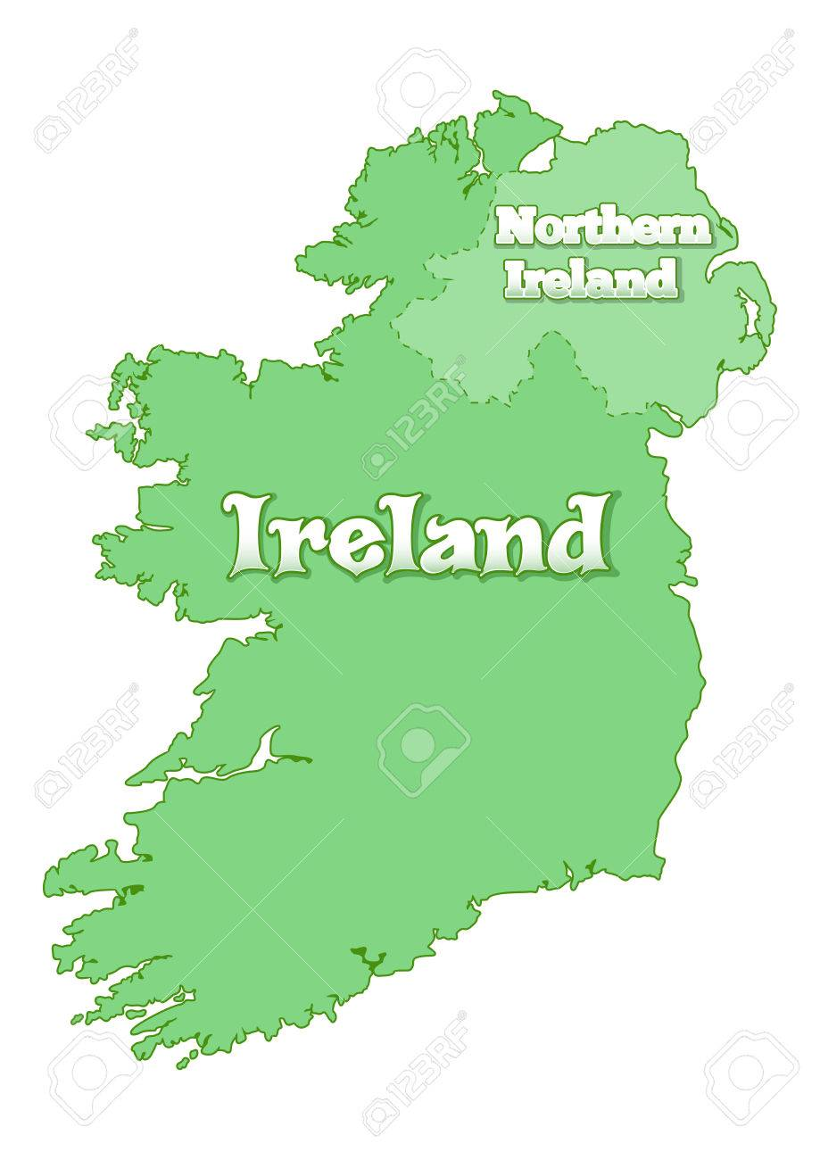 Map Of Ireland Islands.Island Of Ireland Map Of Ireland Island Is Divided The State