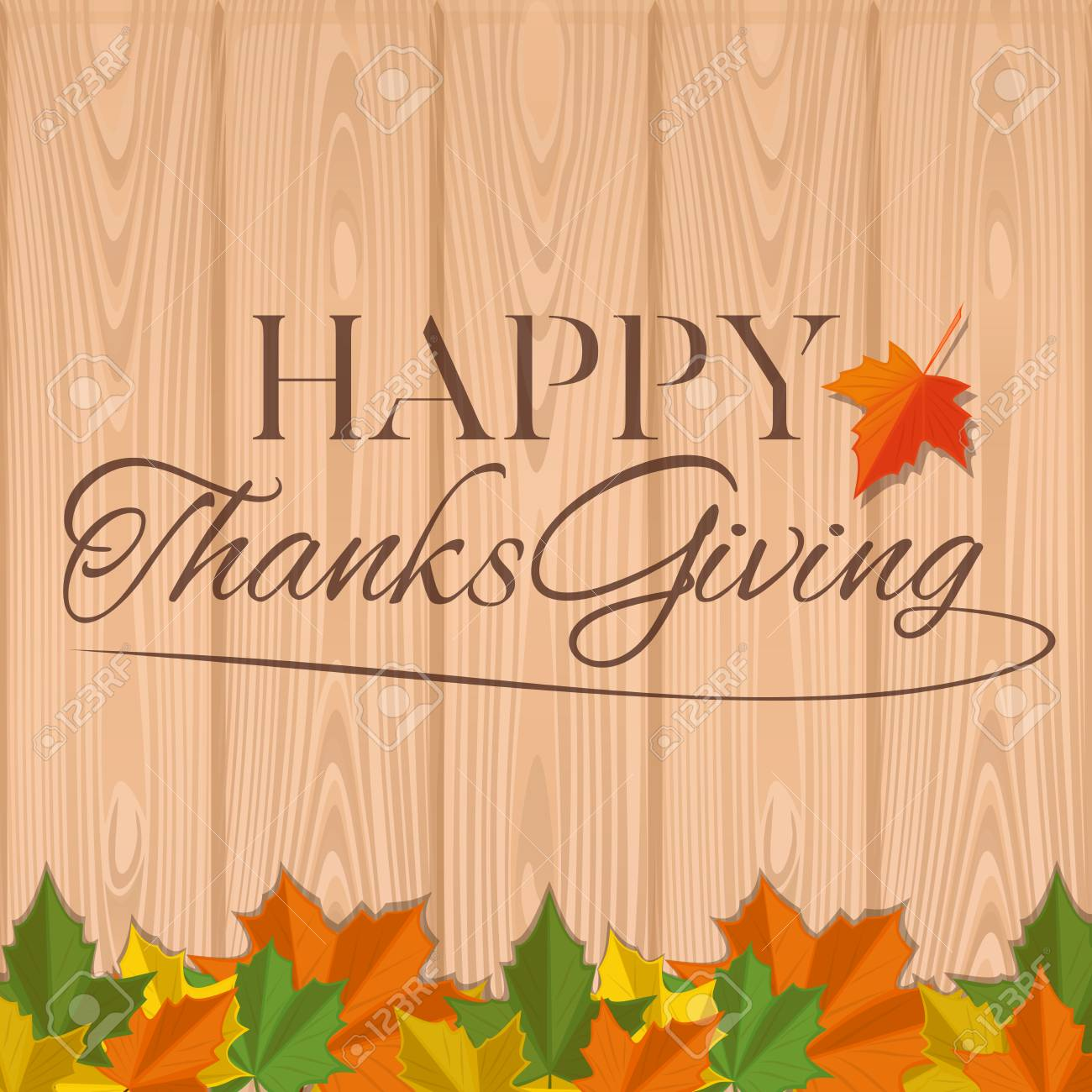 Autumn background for thanksgiving day happy thanksgiving greeting autumn background for thanksgiving day happy thanksgiving greeting inscription on a wooden background vector m4hsunfo