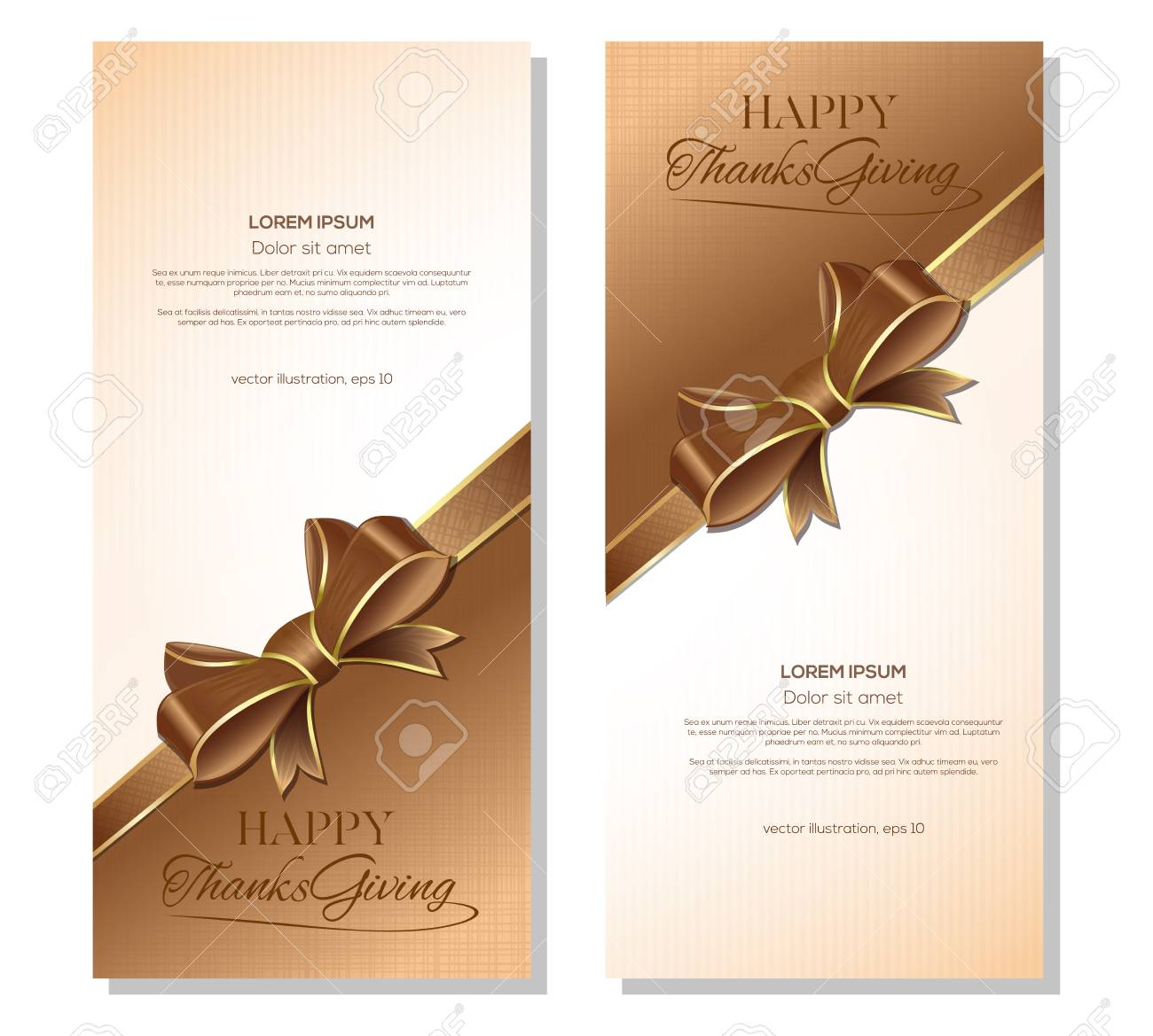 thanksgiving lettering card design vertical banners template